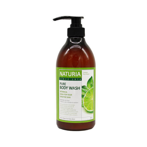 Гель для душа Evas Naturia Pure Body Wash Wild Mint & Lime, 750мл