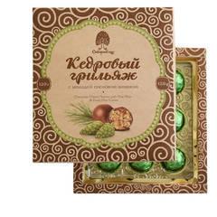 Конфеты Грильяж кедровый с сосновой шишкой в шоколадной глазури 120 гр