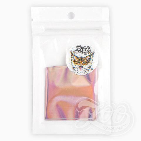 Фольга переводная северное сияние (розовая) 4*20 см 1356