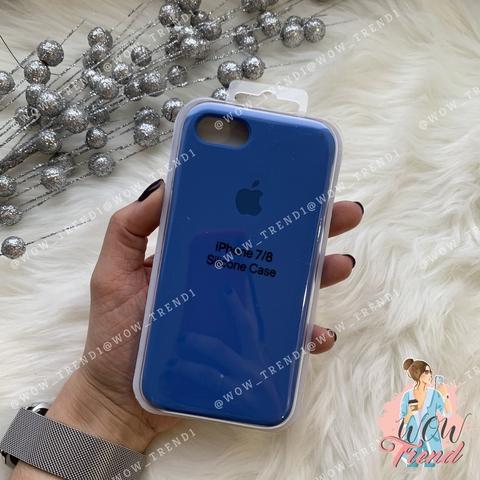 Чехол iPhone 7/8 Silicone Case /royal blue/ ярко-синий 1:1