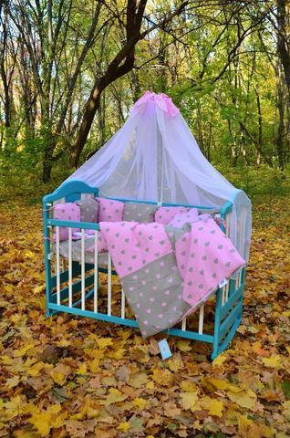 Комплект постельного белья Облачко Серо-розовый