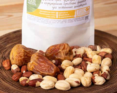 полезный перекус из орешков и сухофруктов