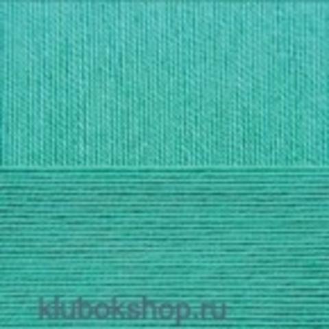 Пряжа Цветное кружево (Пехорка) цвет 581 светлый изумруд