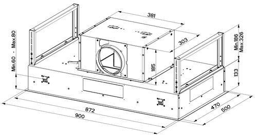 Вытяжка Faber ONYX-C BK GLASS/X A90