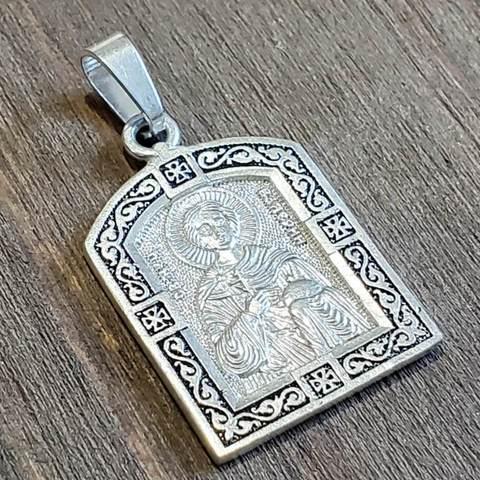 Нательная именная икона святой Валерий медальон кулон с молитвой