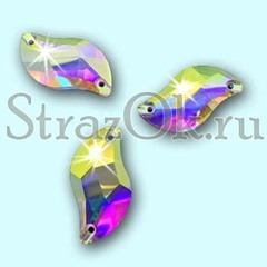 Стразы пришивные с радужным покрытием стеклянные S Shape Crystal AB, С Шэйп  Кристал АБ прозрачный на StrazOK.ru