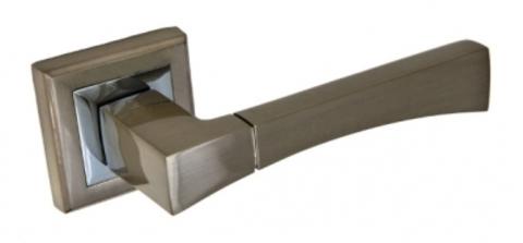 Ручка раздельная  А-201 HH  белый никель квадратная