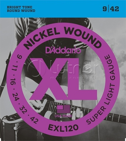 D`Addario EXL120 XL NICKEL WOUND Струны для электрогитары
