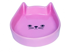 Nobby Миска 13x16x3см керамика Kitty face розовая