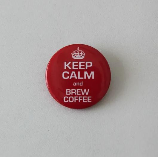 Значок Keep calm brew coffee