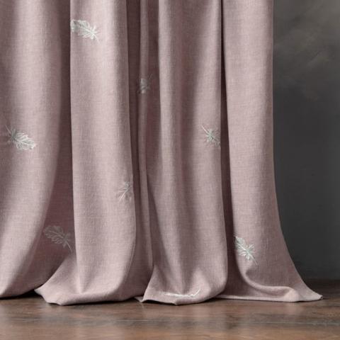Комплект штор с вышивкой Пиаццо розовый