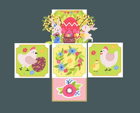 036-9952 Pop-up открытка-коробочка