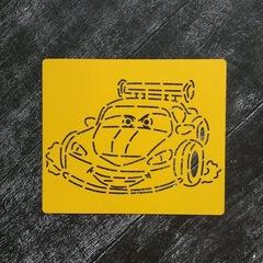 Трафарет №10 Гоночный автомобиль