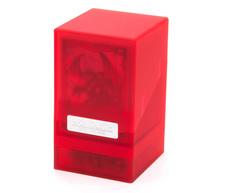 """Ultimate Guard - Коробочка """"Монолит"""" с отделением для кубиков рубиновая"""