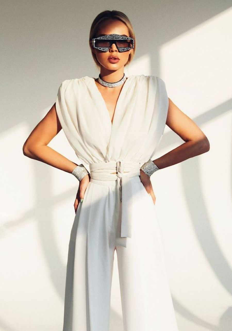 Блуза  из шифона цвета айвори