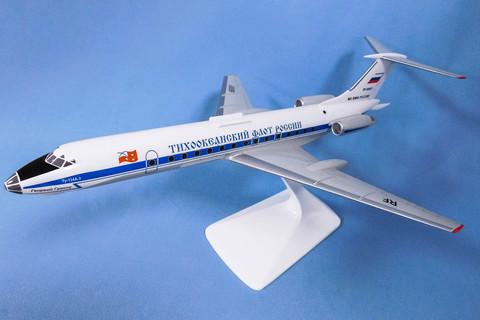 Модель самолета Ту-134А-3 (М1:100, Тихоокеанский флот России)