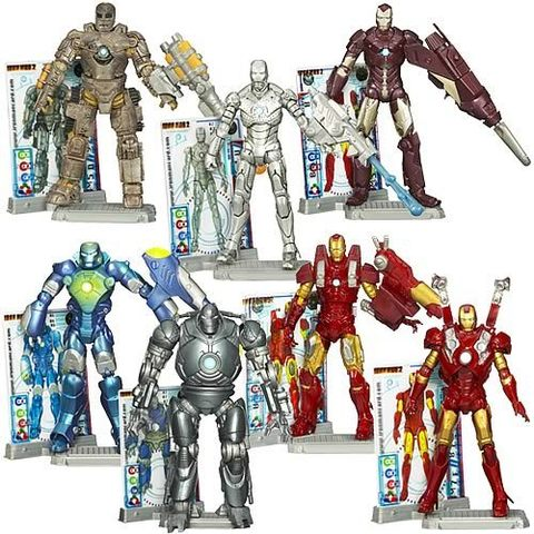 Iron Man 2 Movie Action Figures Wave 1