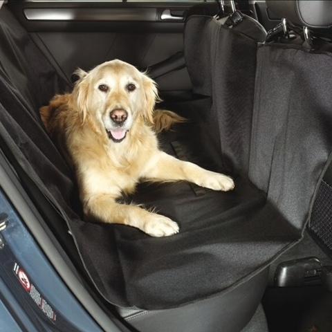 Непромокаемый автогамак для перевозки собак и кошек в автомобиле 142х128 см Чёрный