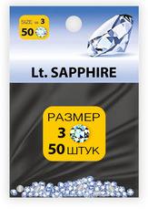 MILV, стразы акриловые № 3 SS3 Lt.Sapphire 50 шт (1 мм)
