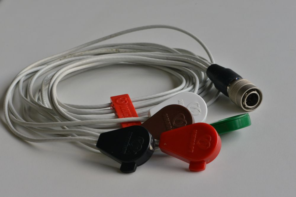 Кабель ЭКГ для КТ-04-3,КТ-04-3Р, КТ-04-АД-3, с 3 отведениями 5 электродов 10 pin