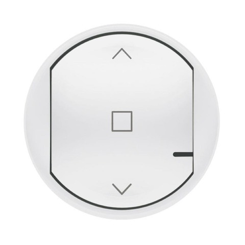 Лицевая панель выключателя жалюзи/рольставни. Цвет Белый. Celiane NETATMO. 064819