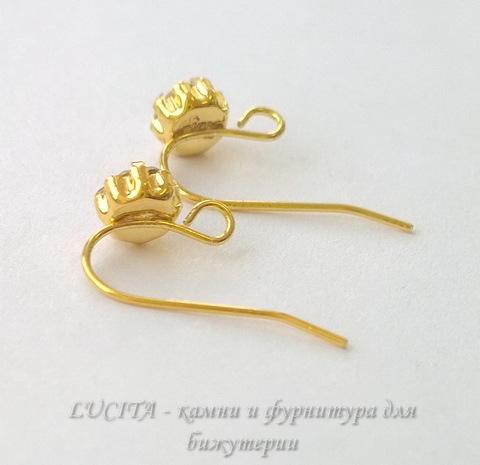 Швензы - крючки со стразом, 20 мм (цвет - золото), пара (WP_20140606_15_07_47_Pro)