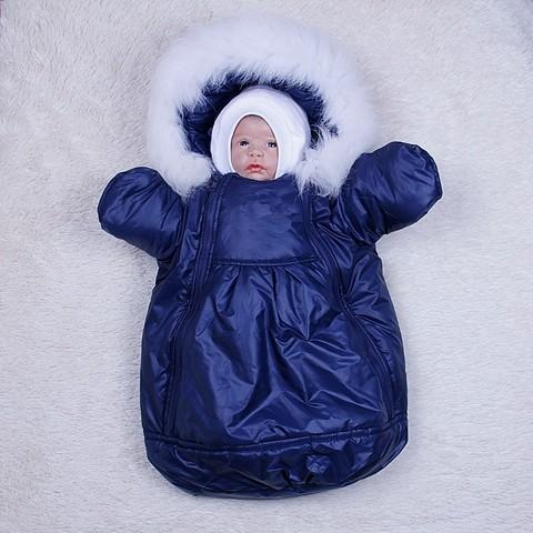 Демисезонный мешок - комбинезон Космонавт (синий)