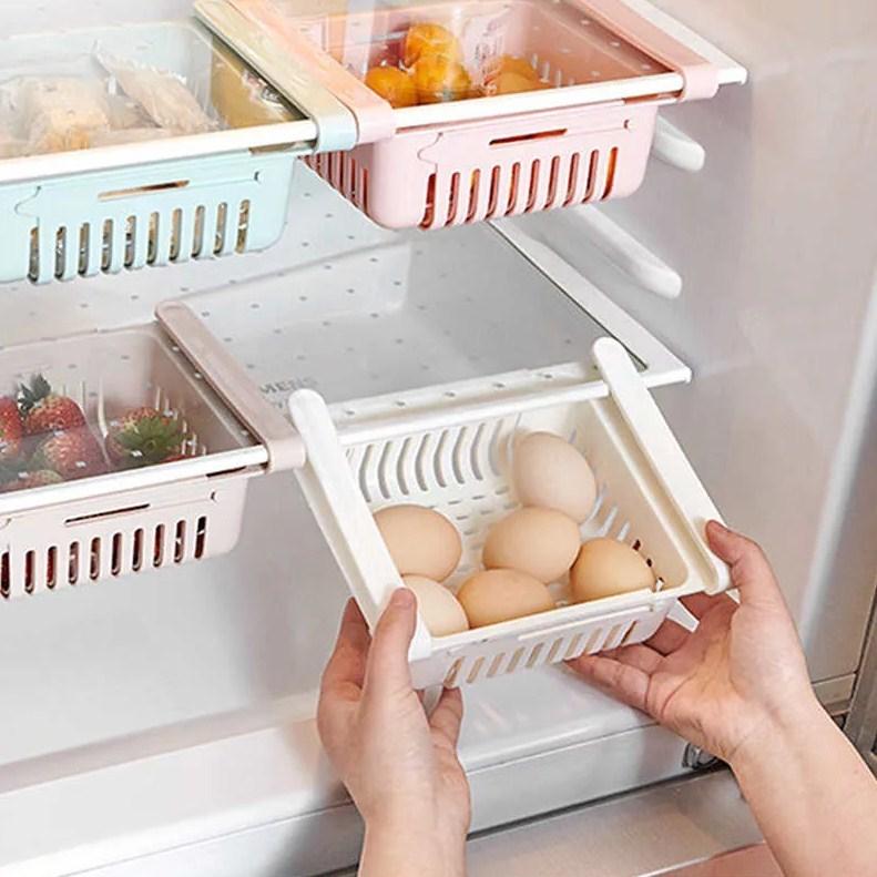 Контейнер в холодильник раздвижной дышащий 23(28)16,58 см Мятный фото