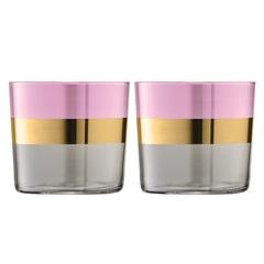 Набор из 2 стаканов Bangle, 310 мл, розовый, фото 1
