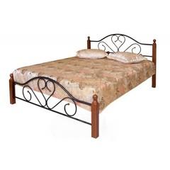 Кровать FD 802 200x90 (MK-1909-RO металл) Темная вишня