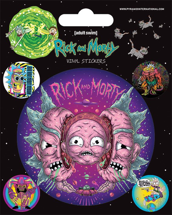 Набор стикеров Rick and Morty (Psychedelic Visions)