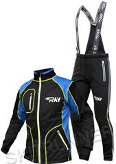Утеплённый лыжный костюм RAY STAR Tour WS Black-Blue мужской