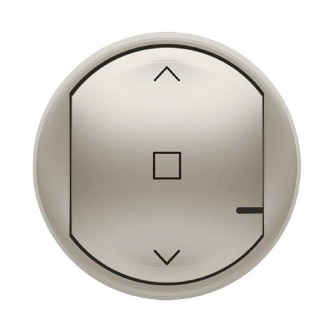Лицевая панель выключателя жалюзи/рольставни. Цвет Титан. Celiane NETATMO. 064829