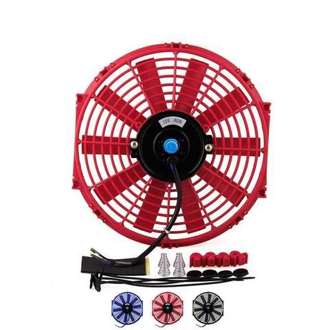 Дополнительный вентилятор охлаждения автомобиля, цвет Красный