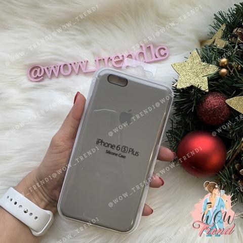 Чехол iPhone 6+/6s+ Silicone Case /pebble/ ракушка 1:1
