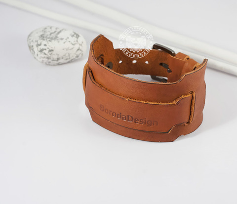BL411 Кожаный браслет напульсник оригинальной формы