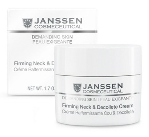 Укрепляющий крем для кожи лица, шеи и декольте Janssen Firming Face, Neck & Decollete Cream,50 мл.