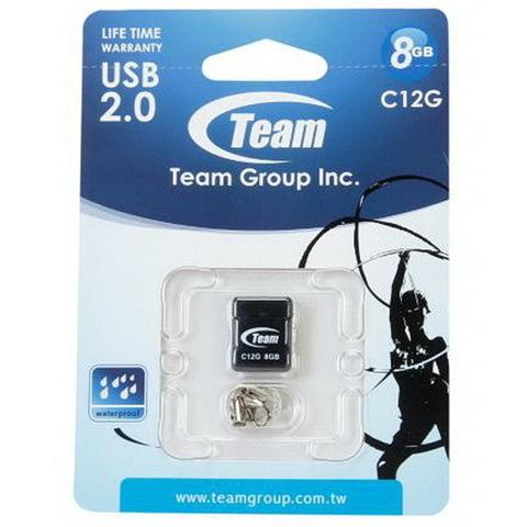 Накопитель Team C12G 8GB USB 2.0 Black (TC12G8GB01)