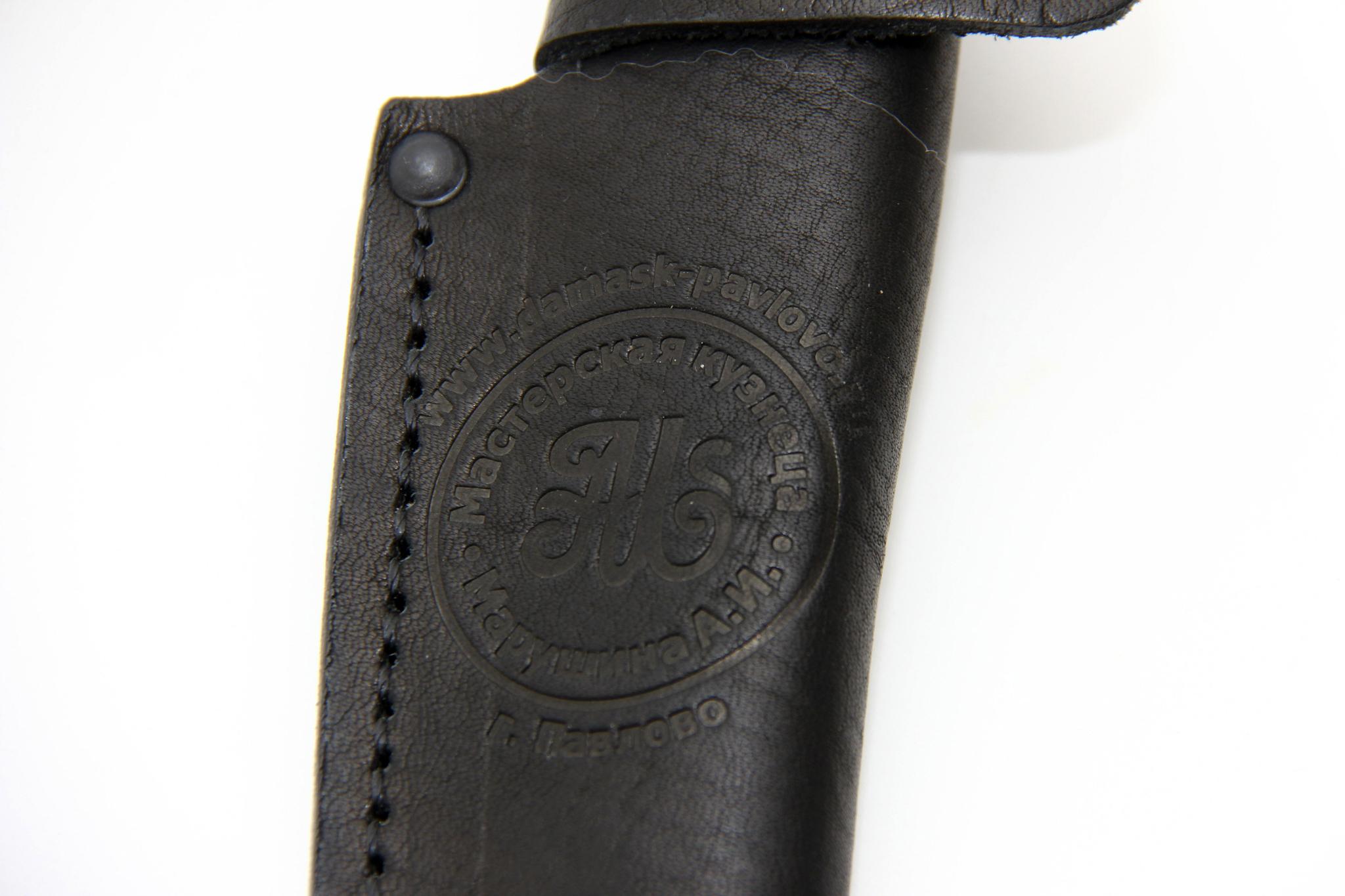Чехол кожаный черный для ножа - фотография