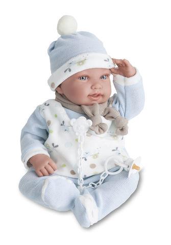 Munecas Antonio Juan Кукла Камилло в голубом, озвученная 40 см (3357B)