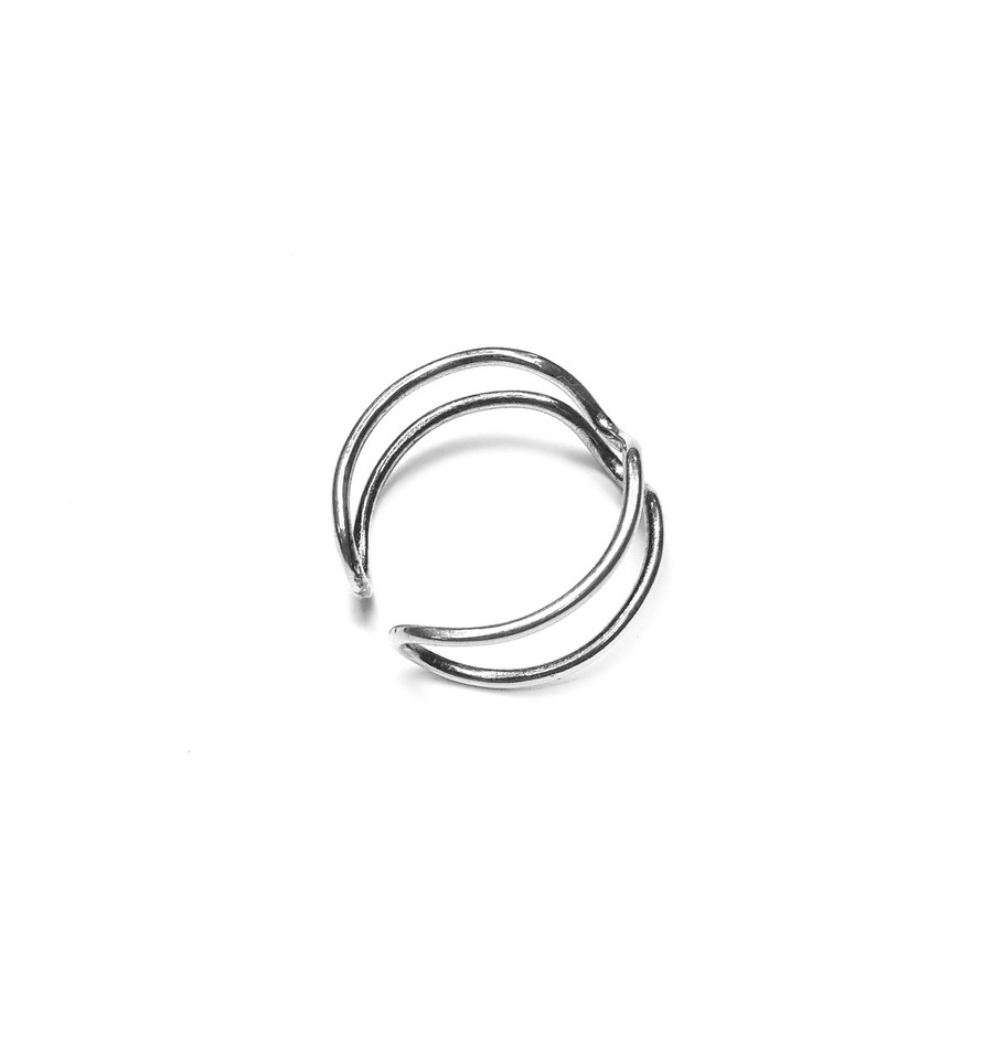 Heartbeat Ring, sterling silver