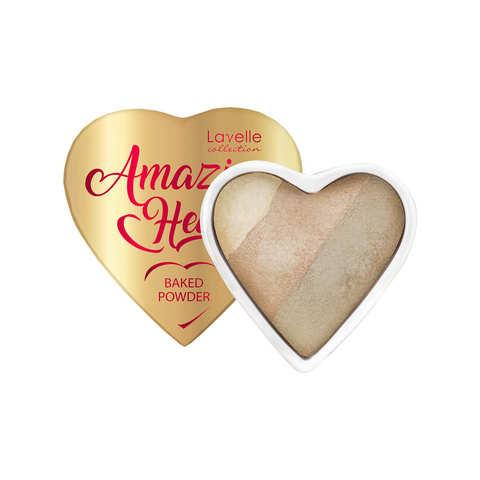 LavelleCollection Пудра запеченная для лица 3-х цв. PD-AH -01 Amazing heart тон 01 light beige