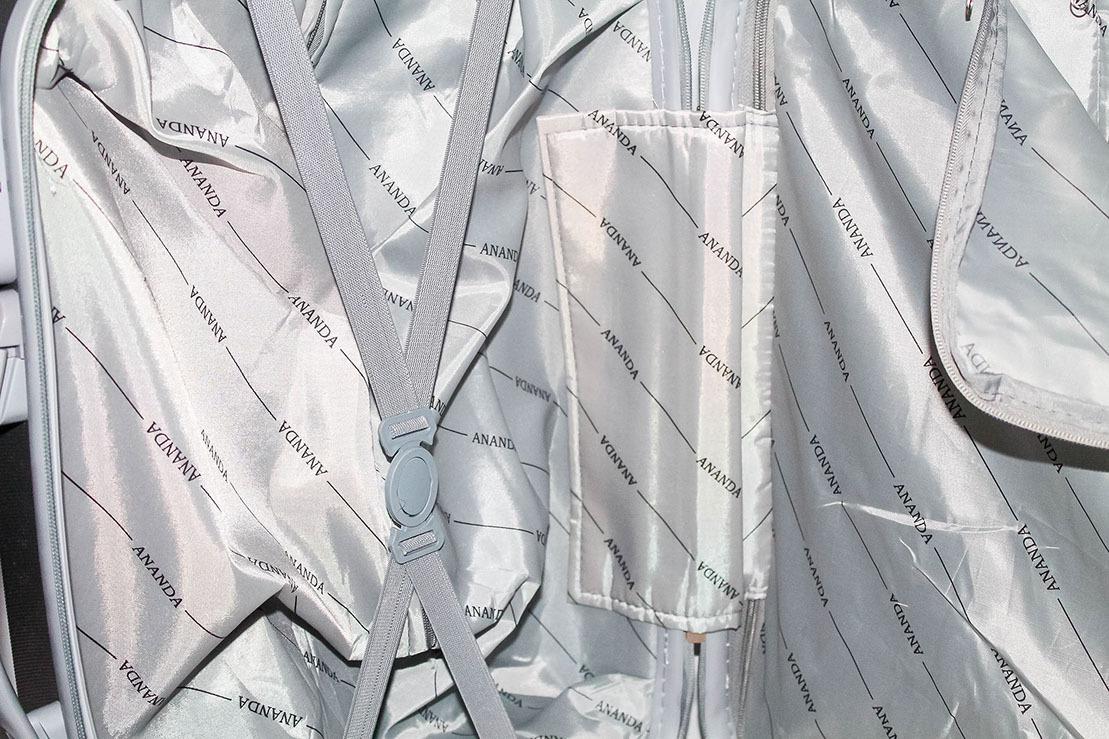 Чемодан Ananda APL-833-SILV-M Серебро