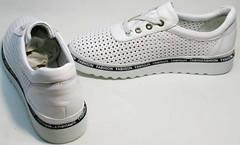 Спортивные туфли женские белые кроссовки с перфорацией Evromoda 215.314 All White