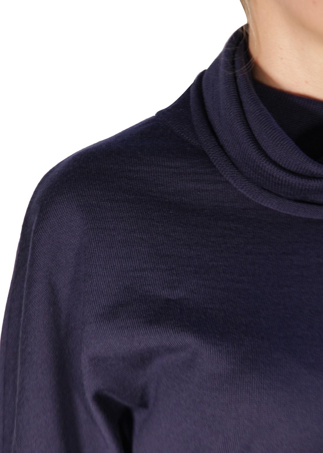 Платье вязаное. Цвет баклажан/синий LES COPAINS