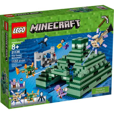 LEGO Minecraft: Подводная крепость 21136 — The Ocean Monument — Лего Майнкрафт