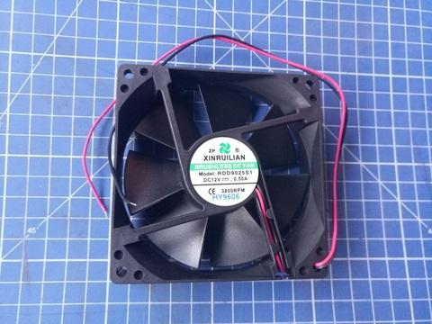 Вентилятор QUATTRO ELEMENTI 92х92х25мм (12В 0,5A) B165/205 (30712039)