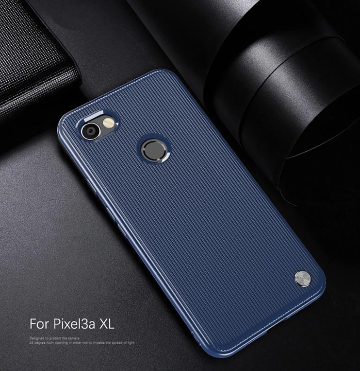 Чехол Google Pixel3a XL цвет Blue (синий), серия Bevel, Caseport