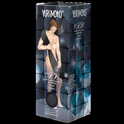 Satico YURIMOTO, Мочалка массажная для мужчин, 28*100см черная