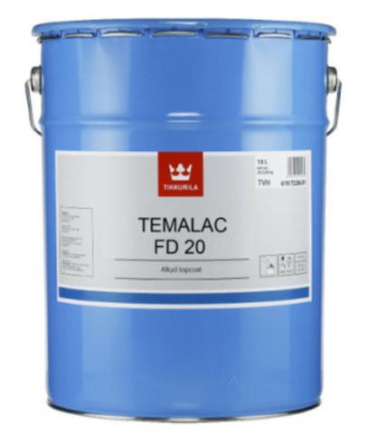 Tikkurila Temalac FD 20/Тиккурила Темалак ФД 20 краска алкидная полуматовая однокомпонентная быстросохнущая для стальных конструкций